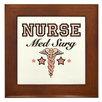 Med Surg Nurse Framed Tile