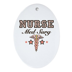 Med Surg Nurse Oval Ornament