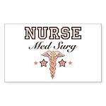 Med Surg Nurse Rectangle Sticker 10 pk)