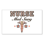 Med Surg Nurse Rectangle Sticker 50 pk)