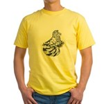English Trumpeter Dun Splash Yellow T-Shirt