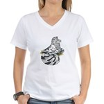 English Trumpeter Dun Splash Women's V-Neck T-Shir