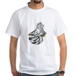 English Trumpeter Dun Splash White T-Shirt