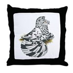 English Trumpeter Dun Splash Throw Pillow