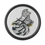 English Trumpeter Dun Splash Large Wall Clock