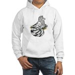 English Trumpeter Dun Splash Hooded Sweatshirt