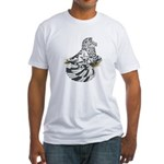 English Trumpeter Dun Splash Fitted T-Shirt