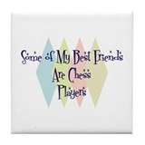 Chess Players Friends Tile Coaster