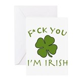 F*ck You I'm Irish Greeting Cards (Pk of 20)