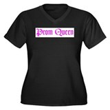 Prom Queen Women's Plus Size V-Neck Dark T-Shirt