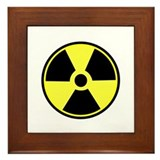 Radioactive Symbol Framed Tile