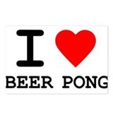 I Love Beer Pong Postcards (Package of 8)