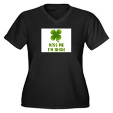 Cute Irish baby girl Women's Plus Size V-Neck Dark T-Shirt