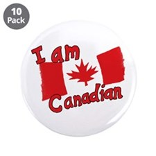 "I Am Canadian 3.5"" Button (10 pack)"