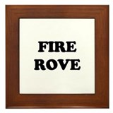 Fire Karl Rove Framed Tile