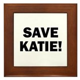Save Katie Framed Tile