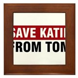 Save Katie From Tom Framed Tile
