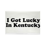 I Got Lucky in Kentucky Rectangle Magnet (10 pack)