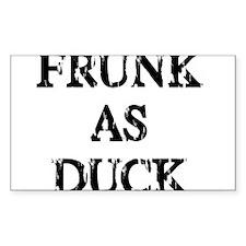 Frunk as Duck Rectangle Sticker 50 pk)