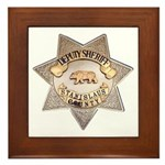 Stanislaus County Sheriff Framed Tile