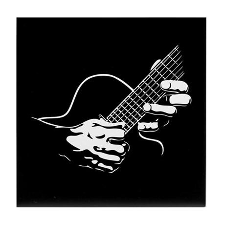 Guitar Hands II Tile Coaster