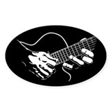 Guitar Hands II Oval Decal