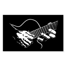 Guitar Hands II Rectangle Decal