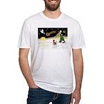 Night Flight/Fox Terrier Fitted T-Shirt
