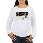 Night Flight/Fox Terrier Women's Long Sleeve T-Shi