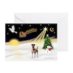 Night Flight/Fox Terrier Greeting Cards (Pk of 10)