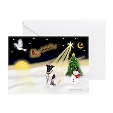 Night Flight/Fox Ter #1 Greeting Card