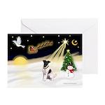 Night Flight/Fox Ter #1 Greeting Cards (Pk of 10)