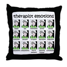 therapist emotions Throw Pillow