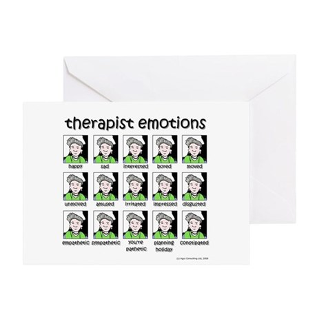 therapist emotions Greeting Card