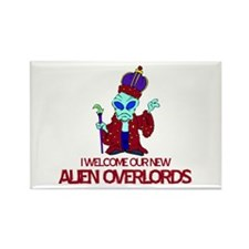 Alien Overlords Rectangle Magnet