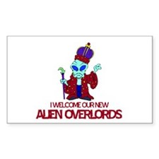 Alien Overlords Rectangle Decal