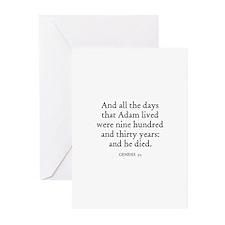 GENESIS  5:5 Greeting Cards (Pk of 10)