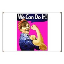 We Can Do It! - Pink Banner