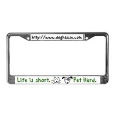 Pet hard License Plate Frame