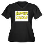 Super chloe Women's Plus Size V-Neck Dark T-Shirt