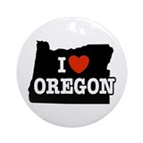 I Love Oregon Keepsake (Round)