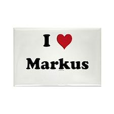 I love Markus Rectangle Magnet