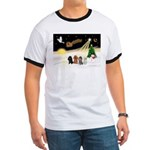Night Flight/4 Poodles Ringer T