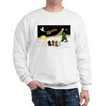 Night Flight/4 Poodles Sweatshirt