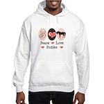 Peace Love Ponies Hooded Sweatshirt