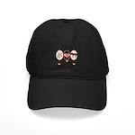 Peace Love Ponies Black Cap