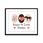 Peace Love Ponies Framed Panel Print