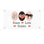 Peace Love Ponies Banner