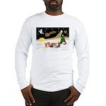 Night Flight/5 Yorkies Long Sleeve T-Shirt