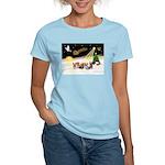 Night Flight/5 Yorkies Women's Light T-Shirt